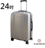 Backbager背包族【ALAIN DELON 亞蘭德倫 】24吋星燦旅者系列行李箱/ 旅行箱(灰色)