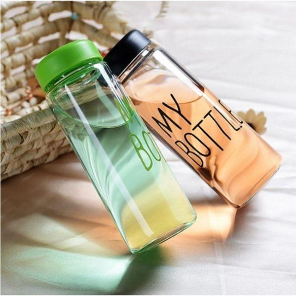 水杯   My Bottle繽紛色彩便攜玻璃杯440ml(送潛水杯套) 水瓶 寬口杯 瓶子 隨行杯 【KCG106】-收納女王