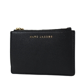 美國正品 MARC JACOBS 魚子醬皮革證件套/拉鍊零錢包-黑色【現貨】