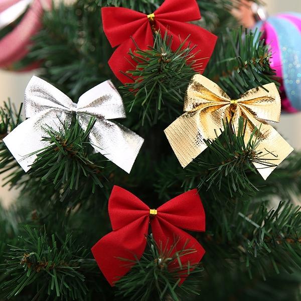 【BlueCat】聖誕節 裝飾蝴蝶結 (12入) 聖誕樹佈置 裝飾 裝扮 耶誕