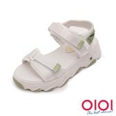 涼鞋 潮流運動風魔鬼氈厚底涼鞋(綠)*0101shoes【18-831gen】【現+預】