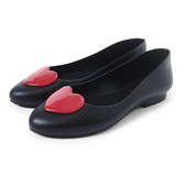 Petite Jolie 紅色果凍愛心娃娃鞋-黑色