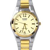 CASIO卡西歐紳士金色指針鋼帶手錶 柒彩年代【NEC112】