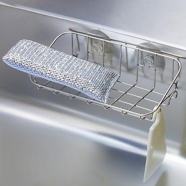 日本LEC不鏽鋼流理台吸盤置物架
