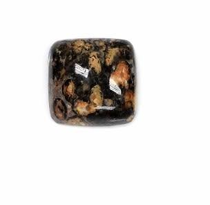 [協貿國際]天然花豹石正方形DIY手工飾品配件(15入價)