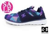DC 女款運動鞋 HEATHROW  繽紛菱格 休閒鞋I9483#紫色◆OSOME奧森童鞋/小朋友 零碼出清