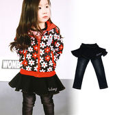 【錢豪童裝童鞋】假兩件牛仔褲裙(85~135cm)
