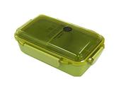 asdfkitty*日本製 OSK 樂扣型透明蓋便當盒-可微波-可機洗-綠色-500ML-保鮮盒/水果盒/收納盒