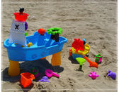 孩子海盜船沙灘玩水桌游戲機女寶寶兒童戲水臺神器的玩具套裝男生WY