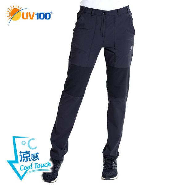 UV100 防曬 抗UV-涼感彈力拼接機能褲-女