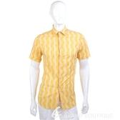 KENZO 白色小花短袖襯衫(黃色) 0620973-66