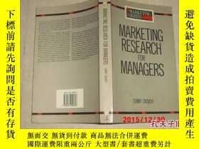 二手書博民逛書店Marketing罕見Research for Managers