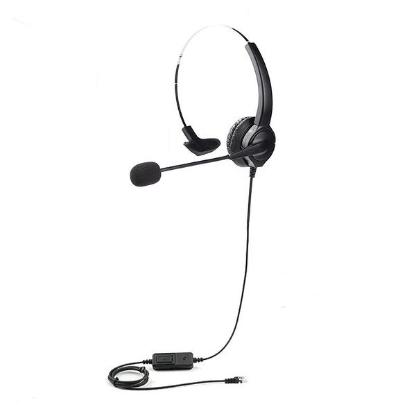 眾通騰翔電話總機,頭戴式電話耳機麥克風,各型號皆有,單耳本款有調音大小聲含靜音鍵功能