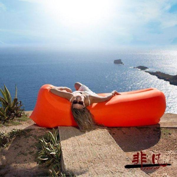 沙發床 便攜式充氣沙發床戶外懶人沙發口袋空氣單人睡袋午休床【99元專區限時開放】TW