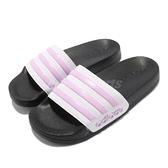 adidas 拖鞋 Adilette Shower K 白 粉紅 童鞋 中童 運動拖鞋 愛迪達 【ACS】 FY8843