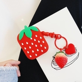 摘草莓ins蘋果藍芽無線耳機套iphone可愛少女萌通用airpods保護套 交換禮物