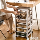 辦公桌面收納盒抽屜式收納櫃桌下a4文件置物架文具用品儲物整理箱 夢幻小鎮ATT