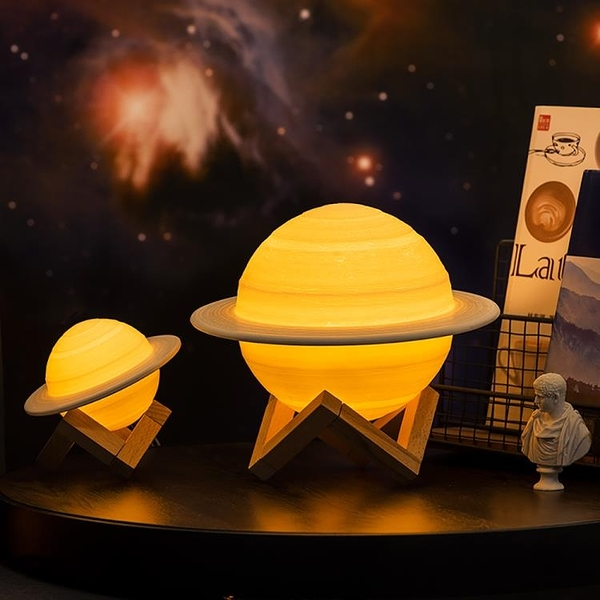 土星小夜燈多功能嬰兒喂奶護眼節能充電月子哺乳睡眠觸摸遙控臺燈 萬客居