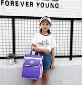 韓國文件袋防水帆布帶水杯位手提美術包補習袋補課包學生書袋 【全館免運】