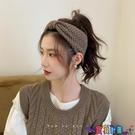 針織髮帶 [2個]秋冬款毛線針織束髮帶女洗臉復古法式髮箍百搭外出髮捆坐月子頭飾 618狂歡