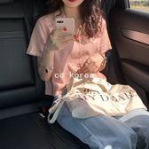 短袖麻料短版襯衫 CC KOREA ~ Q23593