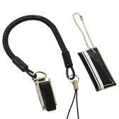 Hamee 日本 伸縮彈簧 固定夾子 防失掛繩 手機吊飾 螢幕擦拭 掛飾 (黑色) 235-514234