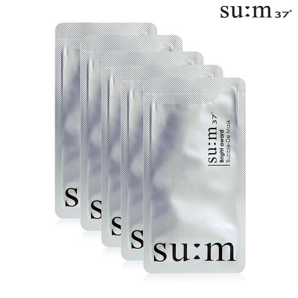 韓國 su:m37°甦秘 微米珍珠淨白煥顏泡泡面膜 4.5ml 5包 白面膜 大S指定品牌【SP嚴選家】