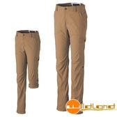 Wildland 荒野 0A31305-62黃卡其 女SUPPLEX可調節長褲
