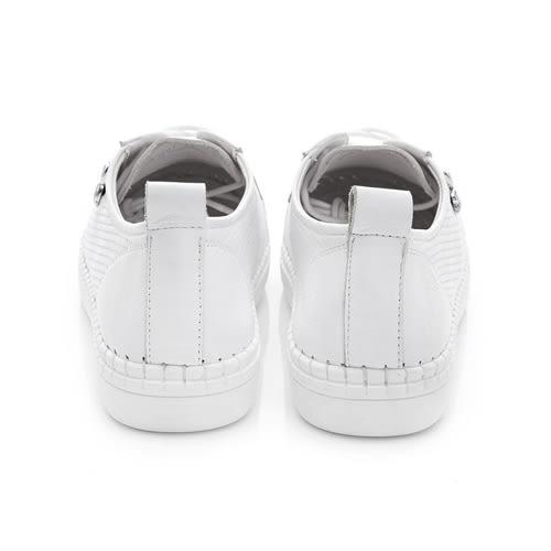 PLAYBOY BASIC ICON 真皮綁帶休閒鞋-白(女)
