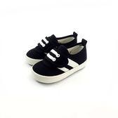 台灣製 小童 魔鬼氈 牛仔 帆布鞋《7+1童鞋》D527  黑色