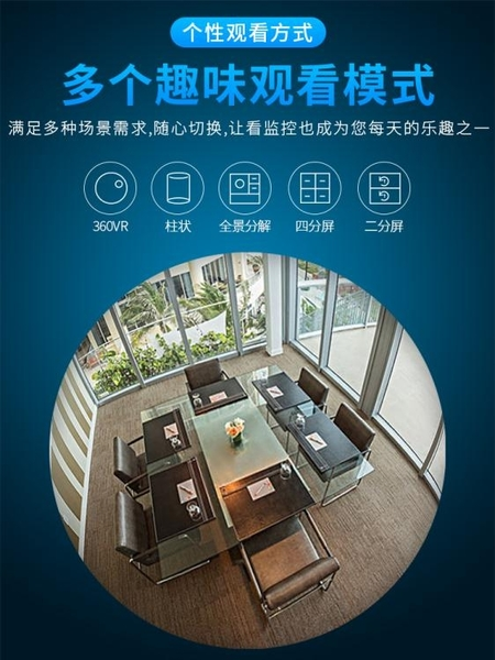 360度全景無線wifi網路家用手機遠程高清夜視家庭室內監控攝像頭NMS 小明同學