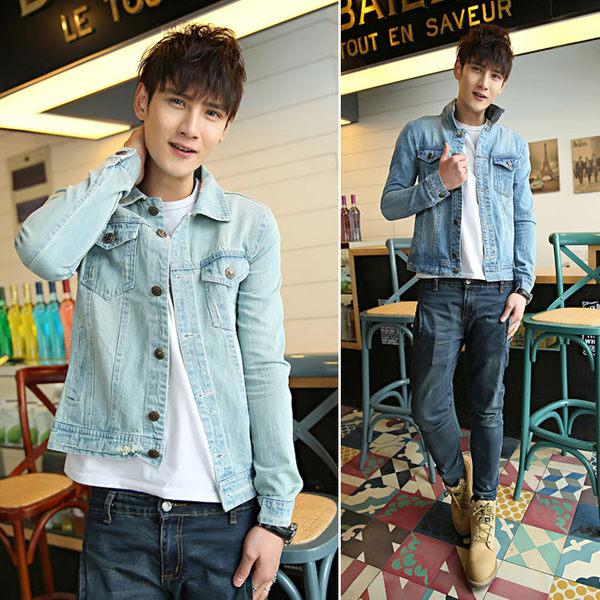 新款韓版新款修身時尚牛仔夾克外套