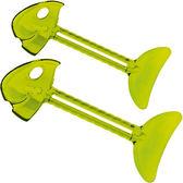 《KOZIOL》Roll魚骨牙膏擠器2件(透綠)