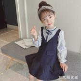 女童洋裝 女童新款童裝兒童韓版秋裝女大童洋氣長袖公主裙子女孩 df4000【大尺碼女王】