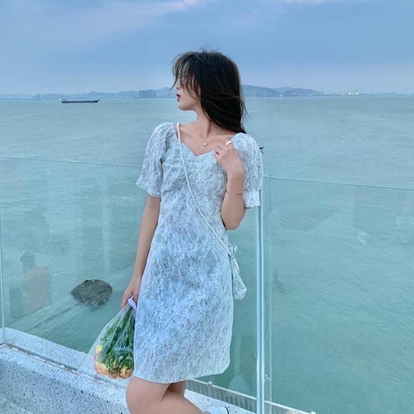 小洋裝 連身裙好質量夏季甜美連身裙小個子溫柔碎花裙子氣質女FFA027韓衣裳