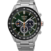 SEIKO 精工 Criteria 極速風暴太陽能計時碼錶-綠x銀/42mm V175-0DK0M(SSC469P1)