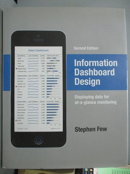 【書寶二手書T8/電腦_ET2】Information Dashboard Design: Displaying data for at-a-glance monitoring_Few, Stephen