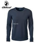 丹大戶外用品【Wildland】男 POWER GRID 底層保暖衣 型號 P2666-54 黑色