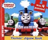 【湯瑪士拼圖書】THOMAS AND FRIENDS THOMAS' JIGSAW BOOK/硬頁拼圖書