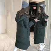 鋪棉外套 女中長款加厚韓版寬松羽絨外套