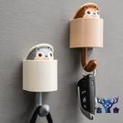 鑰匙置物架創意可愛動物無痕小掛鉤門口裝飾免打孔【古怪舍】
