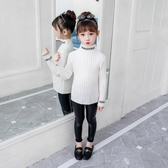 打底衫女童毛衣秋冬加厚毛線打底衫中大童加絨高領時髦洋氣內搭上衣童趣屋促銷好物