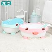 兒童浴盆初生寶寶洗澡盆可坐躺通用新生兒兒童小孩沐浴桶感溫嬰兒浴盆 JA8972『科炫3C』