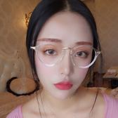 韓版文藝超輕近視眼鏡架女款復古圓形透明鏡框女防輻射防藍光眼鏡【小梨雜貨鋪】