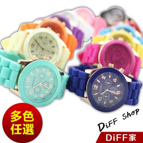 【DIFF】韓流繽紛馬卡龍 手錶 果凍錶 糖果色 中性錶 情侶錶 對錶 禮品 生日禮物 飾品