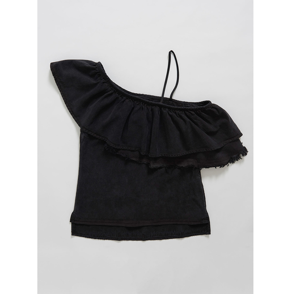ONETEASPOON  WW  CINDY RUFFLE TOP  牛仔上衣-(女)