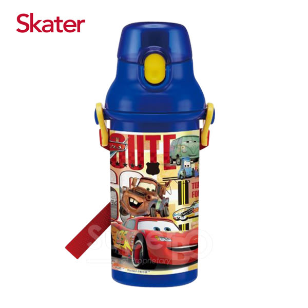 Skater 直飲冷水壺480ml 閃電麥昆-藍