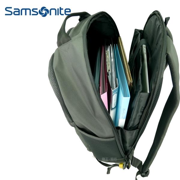 Samsonite RED 15吋筆電包 休閒後背包 多功能後背包 公事包 電腦包 AU5*18003 (深灰色)
