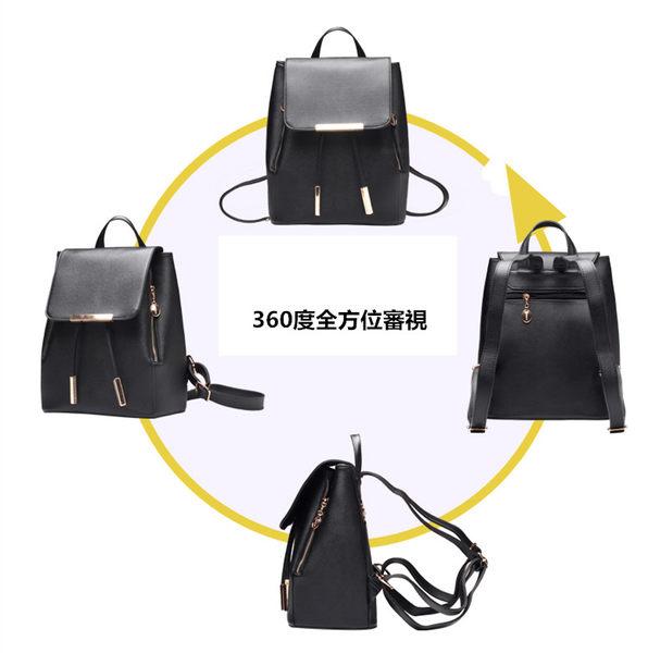 女包包 現貨 質感十字紋防水皮質束口袋兩用後背包  A821