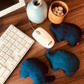 日式和風滑鼠墊鍵盤護腕手枕薰衣草滑鼠腕托護手墊布藝可愛象 後街五號